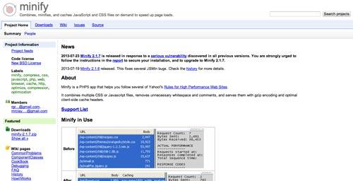 Herramientas para comprimir codigo JavaScript: Minify