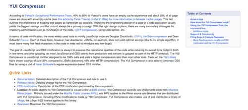 Herramientas para comprimir codigo JavaScript: YuiCompressor