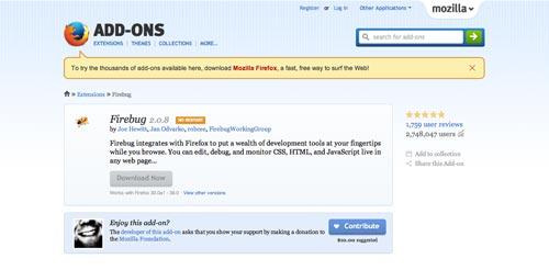 Herramientas que todo desarrollador debería conocer: Firebug