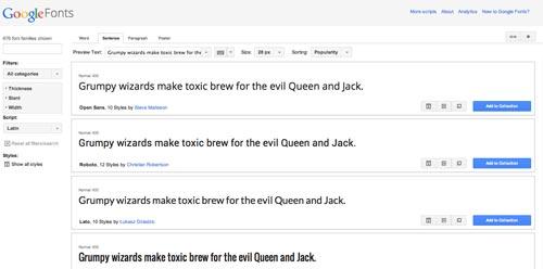 Herramientas que todo desarrollador debería conocer: Google Fonts