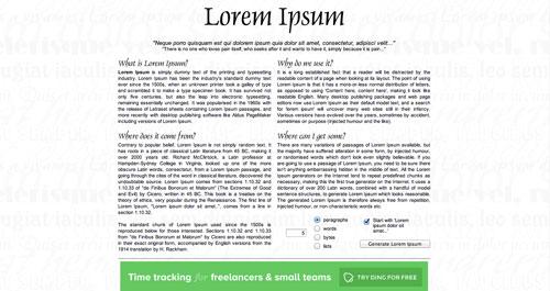 Herramientas que todo desarrollador debería conocer: Lorem Ipsum