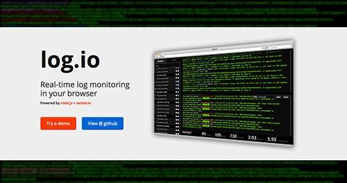 Herramientas útiles para el entorno de programacion Node.js: Log.io