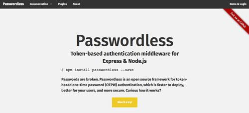 Herramientas útiles para el entorno de programacion Node.js: Passwordless