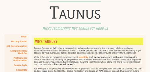 Herramientas útiles para el entorno de programacion Node.js: Taunus