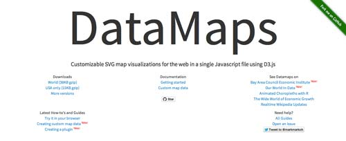 Librerías de JavaScript plugin para crear mapas interactivos: DataMaps