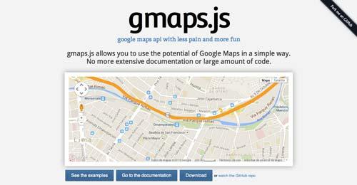Librerías de JavaScript plugin para crear mapas interactivos: Gmaps.js