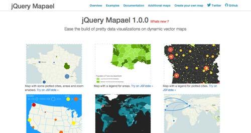 Librerías de JavaScript plugin para crear mapas interactivos: JQuery Mapael