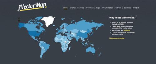 Librerías de JavaScript plugin para crear mapas interactivos: jVectorMap