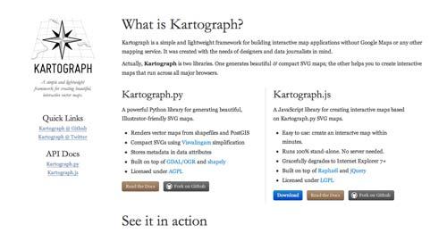 Librerías de JavaScript plugin para crear mapas interactivos: Kartograph