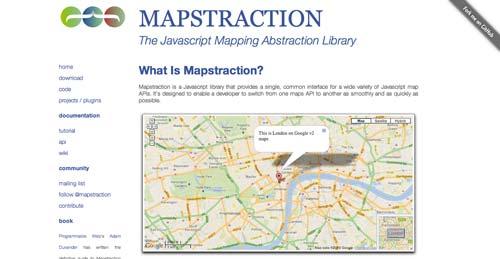 Librerías de JavaScript plugin para crear mapas interactivos: Mapstraction