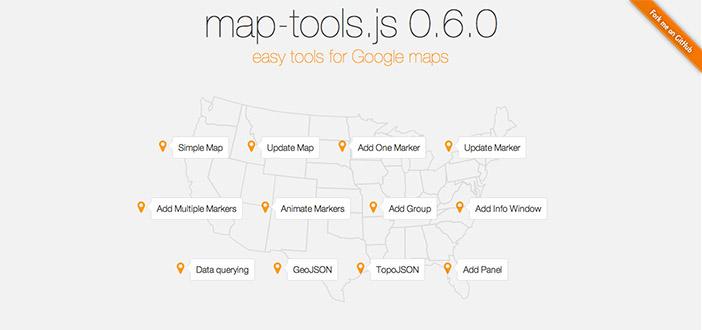 Librerías de JavaScript plugin para crear mapas interactivos: Map-tools.js