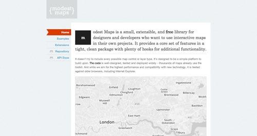 Librerías de JavaScript plugin para crear mapas interactivos: Modest Maps