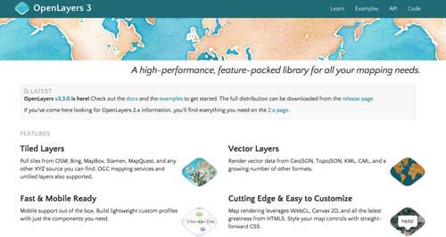 Librerías de JavaScript plugin para crear mapas interactivos: OpenLayers