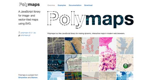 Librerías de JavaScript plugin para crear mapas interactivos: Polymaps