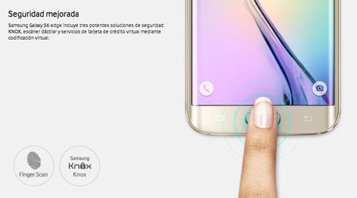 Los nuevos moviles Samsung Galaxy: Reconocimiento dactilar