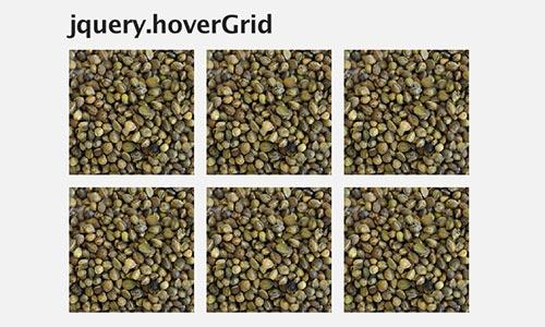 Plugin JQuery para crear galerías  en base a una cuadrícula: jquery.hoverGrid
