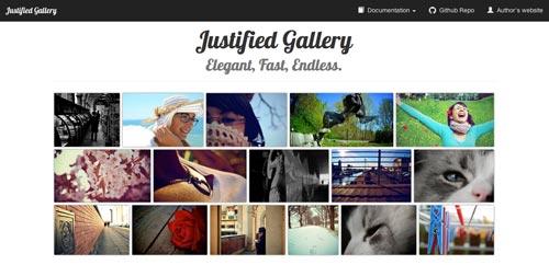 Plugin JQuery para crear galerías  en base a una cuadrícula: Justified Gallery