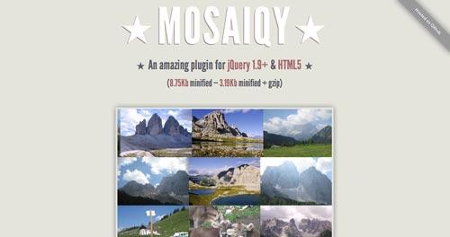 Plugin JQuery para crear galerías  en base a una cuadrícula: Mosaiqy