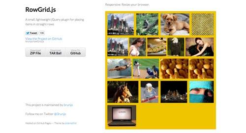 Plugin JQuery para crear galerías  en base a una cuadrícula: rowGrid.js