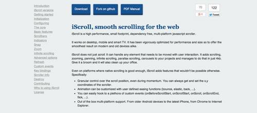 Plugin JQuery optimizados para dispositivos móviles táctiles: iScroll
