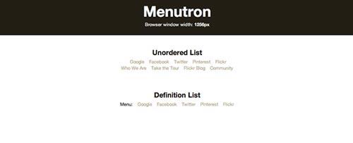 Plugin JQuery optimizados para dispositivos móviles táctiles: Menutron