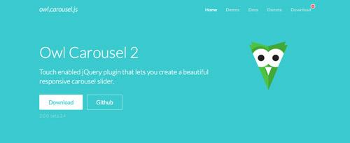 Plugin JQuery optimizados para dispositivos móviles táctiles: Owl Carousel 2