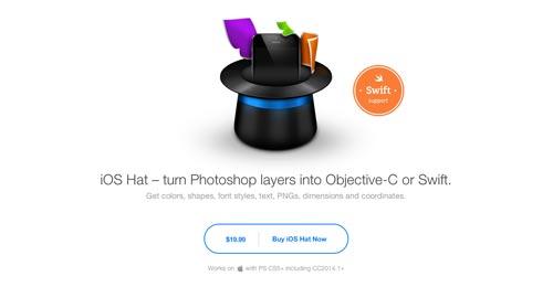 Selección de plugin Photoshop para realizar acciones diversas: iOS Hat