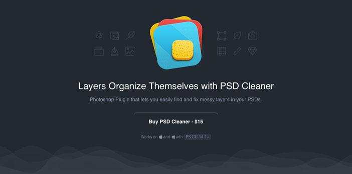 Selección de plugin Photoshop para realizar acciones diversas: PSD Cleaner