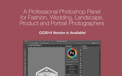 Selección de plugin Photoshop para realizar acciones diversas: Retouching Panel