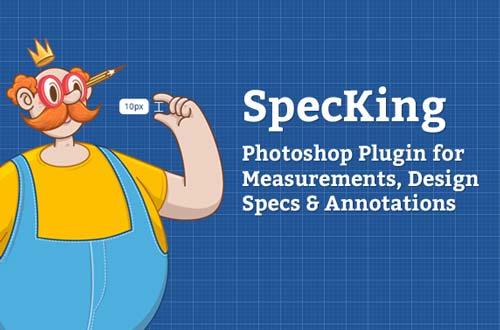 Selección de plugin Photoshop para realizar acciones diversas: Specking