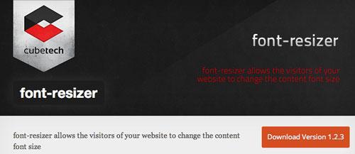 Plugin WordPress para extender y mejorar librería de fuentes: Font Resizer