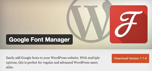 Plugin WordPress para extender y mejorar librería de fuentes: Google Font Manager