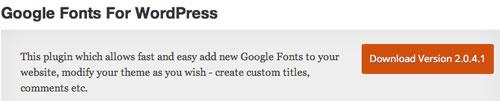Plugin WordPress para extender y mejorar librería de fuentes: Google Fonts for WordPress