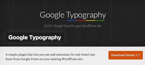 Plugin WordPress para extender y mejorar librería de fuentes: Google Typography