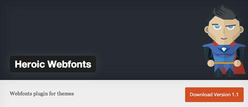 Plugin WordPress para extender y mejorar librería de fuentes: Heroic Webfonts