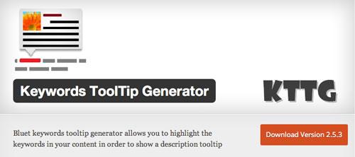 Plugin WordPress para extender y mejorar librería de fuentes: Keywords ToolTip Generator