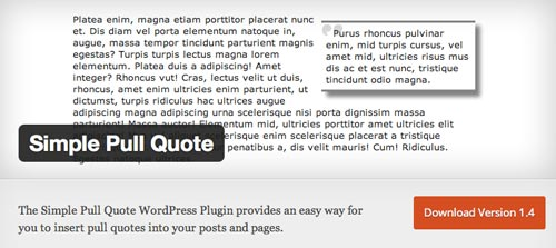 Plugin WordPress para extender y mejorar librería de fuentes: Simple Pull Quote
