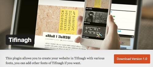 Plugin WordPress para extender y mejorar librería de fuentes: Tifinagh