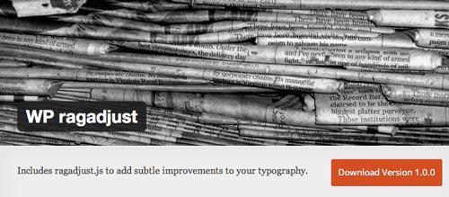 Plugin WordPress para extender y mejorar librería de fuentes: WP Ragadjust
