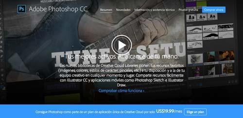 Programas para ordenadores de ilustracion digital: Adobe Photoshop CC