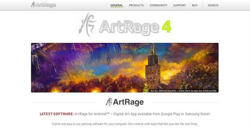 Programas para ordenadores de ilustracion digital: Art Rage 4