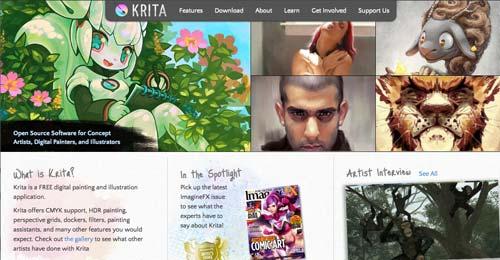 Programas para ordenadores de ilustracion digital: Krita