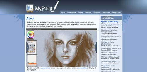 Programas para ordenadores de ilustracion digital: My Paint