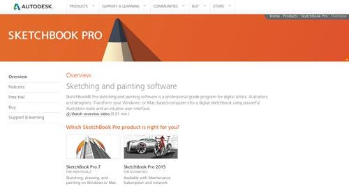 Programas para ordenadores de ilustracion digital: Skecthbook Pro