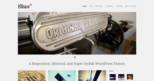 Temas WordPress de estética minimalista: Clean