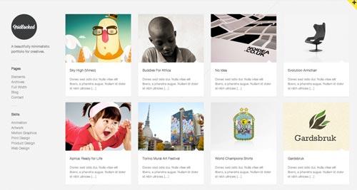 Temas WordPress de estética minimalista: Gridlocked