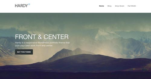 Temas WordPress de estética minimalista: Hardy