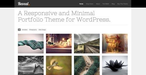 Temas WordPress de estética minimalista: Reveal
