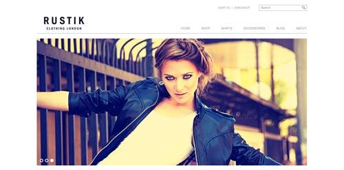 Temas WordPress de estética minimalista: Rustik