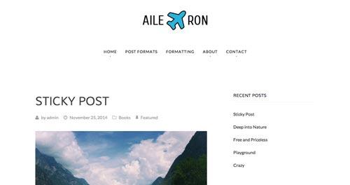 Temas WordPress gratuito que siguen las tendencias de diseño actuales: Aileron